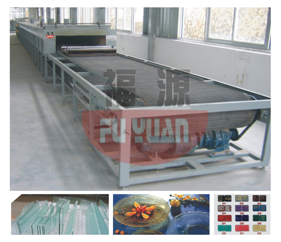 Mesh belt type glass continuous hot bending, hot melting furnaceFY-C